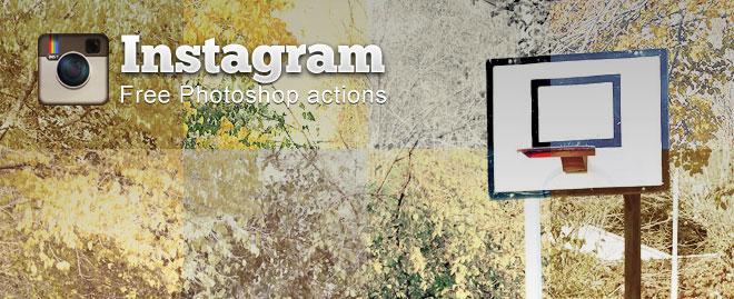 اکشن های اینستاگرام برای فوتوشاپ